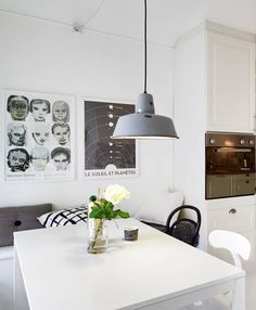 Home with a round kitchen window - via cocolapinedesign.com