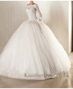 Dresses Ball Gowns, Lace Weddings and Go… Ball Gown Lace Wedding Dress. Dresses Ball Gowns, Lace Weddings and Gowns Lace Wedding Dress With Sleeves, Sweetheart Wedding Dress, Perfect Wedding Dress, Dream Wedding Dresses, Wedding Gowns, Lace Sleeves, Poofy Wedding Dress, Wedding Lace, Modest Wedding