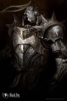 Pretty badass art of Alphonse Elric. (FullMetal Alchemist/FullMetal Alchemist: Brotherhood).
