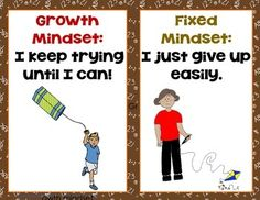 FREE GROWTH AND FIXED MINDSET BACK TO SCHOOL LETTER SIZE POSTERS - TeachersPayTeachers.com