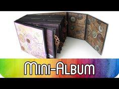Scrapbook Mini Album aus Briefumschlägen | Album im Industrial Vintage Stil - YouTube