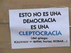 Cleptocracia.