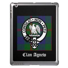 Clan Agnew Tartan Crest iPad Cover