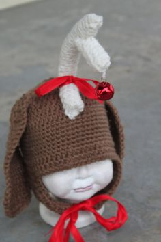 Max from the grinch! Adorable! No pattern but cute idea