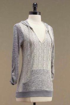 Versona crochet front hoodie #Versona