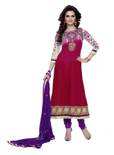 Abida Chiffon Maroon Color Suit of Monika Bedi