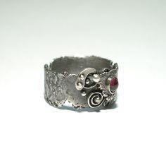 Srebrny Pierścień|Granat|Silver Ring|Handmade|By Norman Man Jewellery Silver Rings Handmade, Norman, Cuff Bracelets, Jewels, Jewellery, Fashion, Ring, Moda, Jewerly
