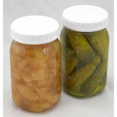 Widemouth Plastic Storage Jar Lids, 8/pk
