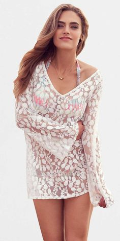 Coconut White Kate Swimsuit Cover Up Dresses by PilyQ