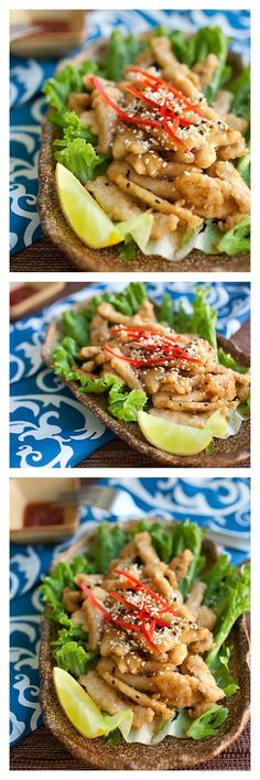 Honey Lemon Chicken Recipe. This recipe is so easy but oh-so-yummy. Sweet, savory, and citrusy, make it at home with this tried and tested recipe, by /rasamalaysia/