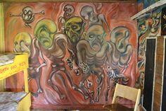 Kalervo Palsa Museum, wall painting