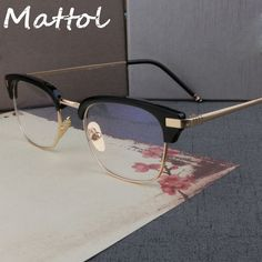 4d104727bc8 FT 5323 002 Matte Black Gold Metal 49-millimeter Square Eyeglasses
