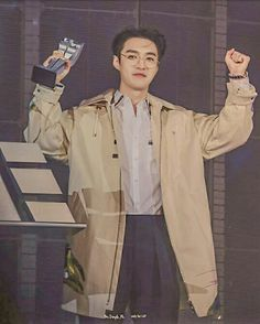 Lay Exo, Yixing, Coat, Jackets, Fashion, Down Jackets, Sewing Coat, Moda, La Mode
