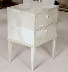 Biedermeier style bedside Cabinet, Full Parchment - B.I. MADE IN GERMANY COLLECTION by Birgit Israel | BEDSIDE CABINETS in the Signature Collection