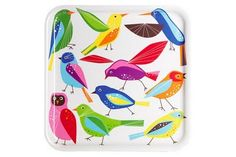 Bird pattern on tray by Swedish designers Edholm Ullenius
