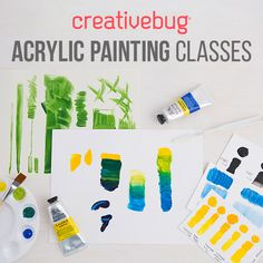 Artist and instructor Lisa Solomon takes the guess work out of painting with acrylics in this easy, beginner-friendly class at Creativebug.