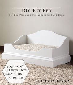 DIY Pet Bed - Building Plans by Build Basic @BuildBasic www.build-basic.com