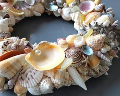Nautical Decor Seashell Wreath Beach Decor Shell Wreath