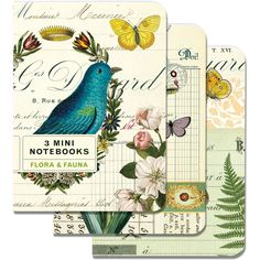 lovely designs for pocket sized journals from Cavallini & Co.
