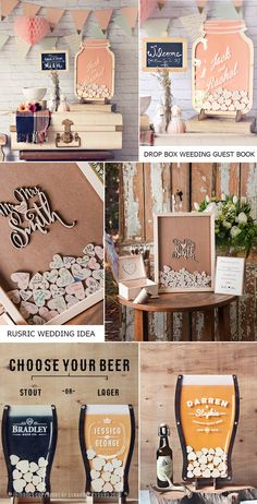 28 Alternative ETSY Rustic Guest Book | Forevermorebling | Wedding Blog
