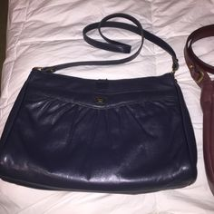 Etienne Aigner Dark blue vintage medium bag Great used condition few miner scratches on leather but can't hardly tell. Nice long strap you can use as crossbody or shoulder bag Etienne Aigner Bags Shoulder Bags