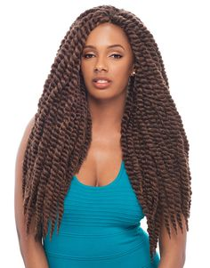 "Janet Havana Mambo Twist 24"" Crochet Interlocking Braid"