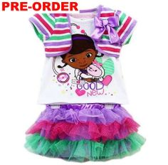 Doc Mcstuffins girl skirts clothing set | TENEURO cheap kids clothes, communion dresses, christening outfits
