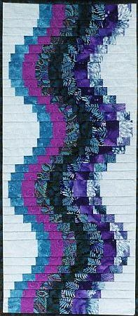 Roller Coaster Table Runner by AllThatPatchwork, via Flickr