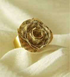 Another #ring with a #paper #rose... so elegant and delicate - and handmade by me!