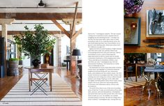 Runner, table, floral arrangement. October 2013 - Lonny Magazine - Lonny pg. 138
