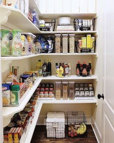 New kitchen organization diy pantry laundry rooms Ideas Pantry Shelving, Pantry Storage, Kitchen Storage, Shelving Ideas, Shelf Ideas, Drawer Storage, Kitchen Drawers, Table Storage, Storage Room