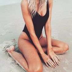 The Candice One Piece in Black <3
