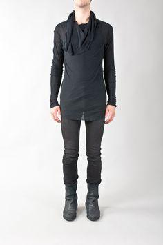 cowl-neck long-sleeve top — re. porter