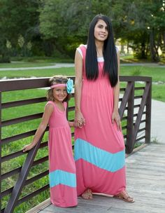 The Perfect Coral Mommy and Me Maxi kids $14.99 mommies $16.99   https://www.facebook.com/gabskiaccessories www.gabskia.com