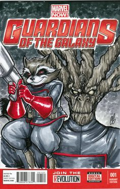 Guardians of the Galaxy Rocket Raccoon Groot by BigChrisGallery