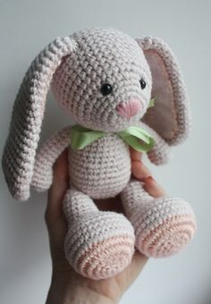 New amigurumi bunny design in process :) Easter clipart ideas