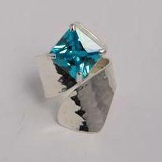 The beautiful Aqua stone wrap ring …size ajustable http://silverchilli.bigcartel.com/product/aqua-ring
