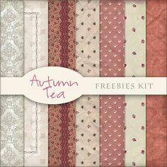 Freebies Kit of Backgrounds - Autumn Tea