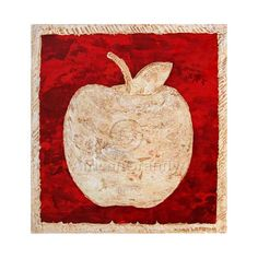 Big Apple In White And Red Printable Immage of by AfricanGranny