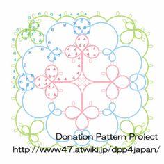 Tatting square motif pattern