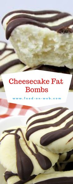 If you want cheesecake and are looking for a brief excessive fat snack to meet your longing for something candy, you will love these Cheesec. Chocolate Sweet Cake, Dark Chocolate Chips, Cheesecake Fat Bombs, Cheesecake Bites, Mini Cookies, Homemade Ice Cream, Best Appetizers, Sweet Cakes, Kitchen Recipes