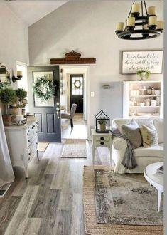 33 Farmhouse Living Room Flooring Ideas (10  #farmhouse #flooring #Ideas #Living