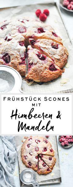 Rezept auf Englisch   Frühstück Scones mit Himbeeren & Mandeln   eatlittlebird.com