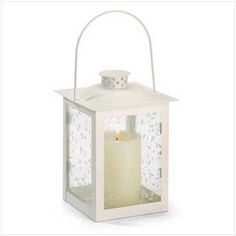 Gifts & Decor Large White Lantern Ivory Glass Candleholder Candle | WholesaleLightStoreWholesaleLightStore