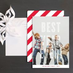 Best Year Ever Holiday Photo Cards by Olivia Raufman Christmas Photo Cards, Christmas Greeting Cards, Christmas Greetings, Wedding Stationery, Wedding Invitations, Paper Paper, Cool Patterns, Save The Date, Card Ideas
