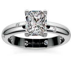 Radiant Inset Diamond Engagement Ring in Platinum  http://www.brilliance.com/engagement-rings/inset-diamond-ring-platinum-1/6-ctw
