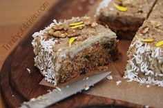 Raw no bake carrot cake - gluten free, vegan and absolutely delicious!