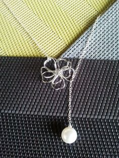 Heart Flower Lariat Necklace lovely mom sister by LaLaCrystal, $24.50