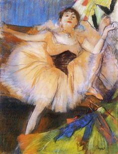 EDGAR  DEGAS (1834-1917)  Seated Dancer, 1880, pastel
