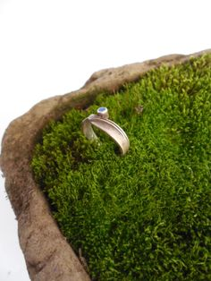 Delicate Vintage Silver Ring with Blue by Tastecannotbetaught, $10.00